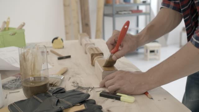 4K: Carpenter Repairing Furniture. video