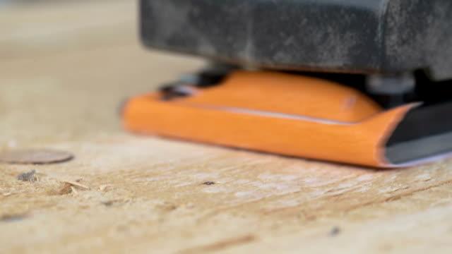 Carpenter Sanding White Oak video