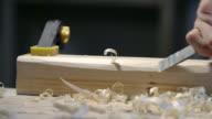 Carpenter using wood chisel video