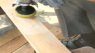 Carpenter while using electric tools video
