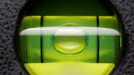 Carpenter's spirit level close up. video
