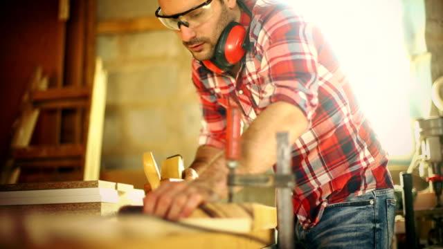 Carpentry work. video