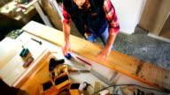 Carpentry workshop routine. video