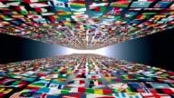 Carpet of World Flags universe, loop video