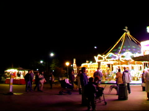 Carrousel at night in Paris France video