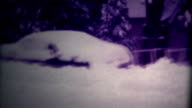 (Super 8 Film) Cars Buried Heavy Snow 1975 video