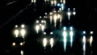 Cars Driving At Night In Rainstorm video