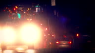 Cars Driving On Highway On Rainy Night video