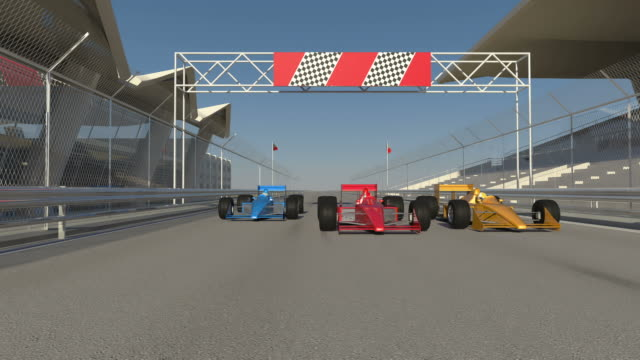 F1 Cars Gets Ready Then Accelerate video