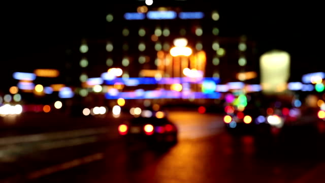 Cars in night city video