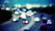 cars on road out of focus video