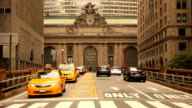 Cars on Street to Grand Central Station video