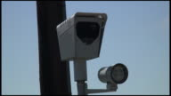 (HD1080i) Cars Reflected in Red Light Surveillance Camera video