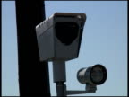 Cars Reflected in Red Light Traffic Surveillance Camera video