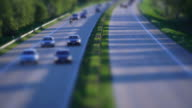 T/L Cars Rushing On Highway Tilt Shift video