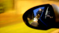 Car's wing (side) mirror at night video