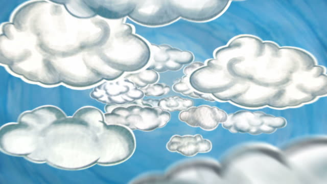 Cartoon Clouds - LOOP video