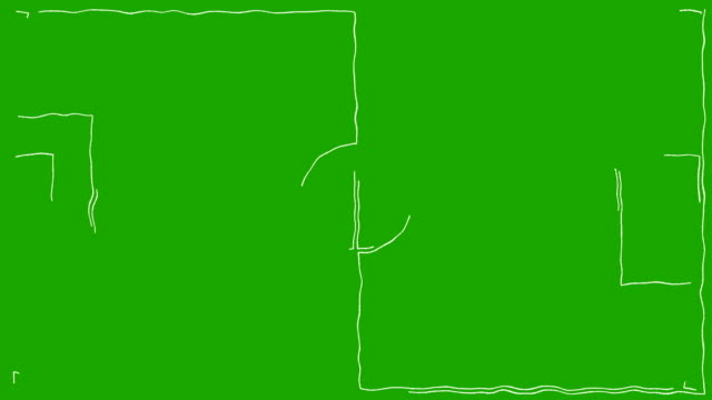 Cartoon Soccer Field Drawing on a green screen video