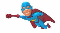 Cartoon superhero video