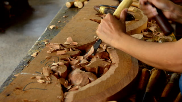 Carving wood video