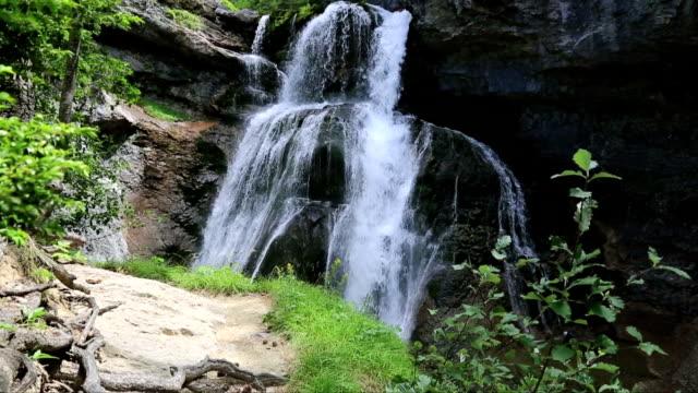 Cascada de la Cueva waterfall in Ordesa valley Pyrenees Huesca Spain Arazas river video
