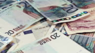 Cash bank currency notes video