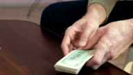 Cash Money In Envelope video
