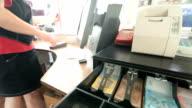 Cashier at work video