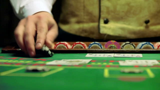 casino chips and cards game blackjack video