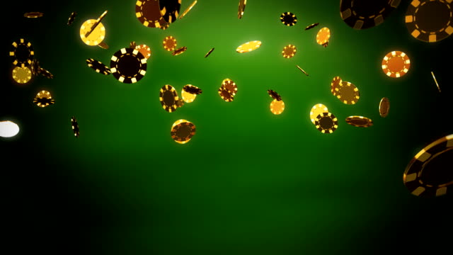 Casino chips gold green video