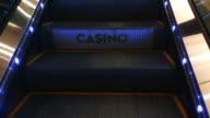 Casino moving staircase escalator video