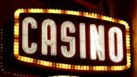 Casino neon sign video