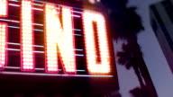 Casino Neon Sign with Flashing Light Bulbs video