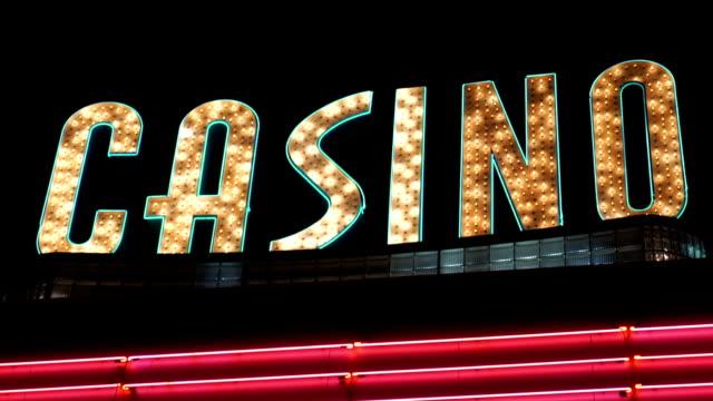 Casino Sign video
