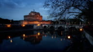 Castel Sant'Angelo and Tiber River at sunset video