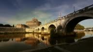 Castel Sant'Angelo Reflected in Tiber River video