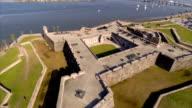 Castillo de San Marcos aerial video video