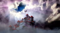 Castle above the clouds. video