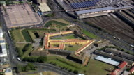 Castle Of Good Hope  - Aerial View - Western Cape,  City of Cape Town,  South Africa video
