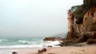 Castle tower on beach video