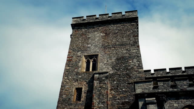 Castle Turret With Sky Moving Behind video