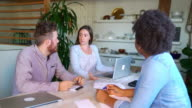 Casual business workers in a relaxed meeting environment video