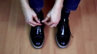 Casual shoes lacing video