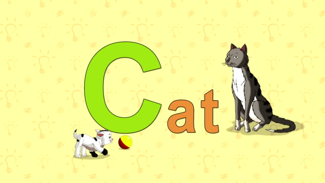 Cat. English ZOO Alphabet - letter C video
