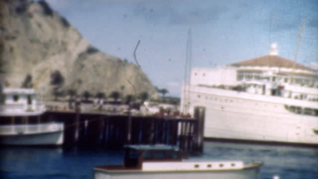 Catalina Harbor and Cruise Ship 1930's. video