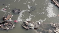 catastrophic water pollution in asia Katmandu city, Nepal. video