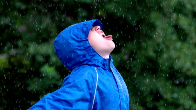 Catching raindrops video