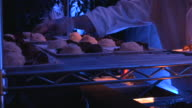 Catering service, bite size meal, small dishes, finger food, party. video