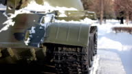 Caterpillar of Armored Tank-old movie video