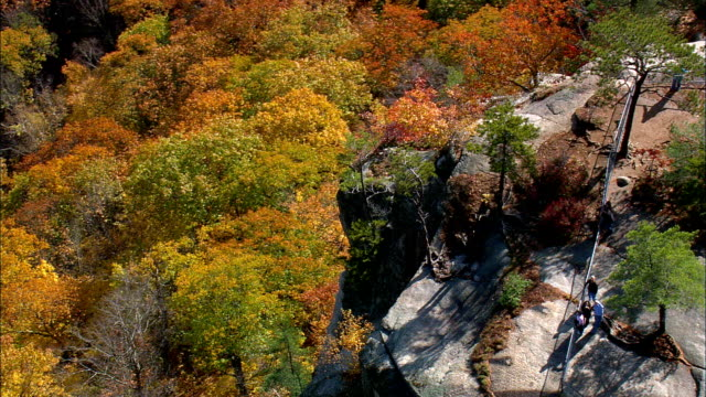Cathedral ledge - Aerial View - New Hampshire,  Carroll County,  United States video